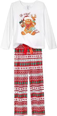 Dormir En él Niñas Oh Snap Día Festivo De Hombre De Jengibre Pijama 2 Pc Conjunto De Pijama S 6 6x Blanco Clothing