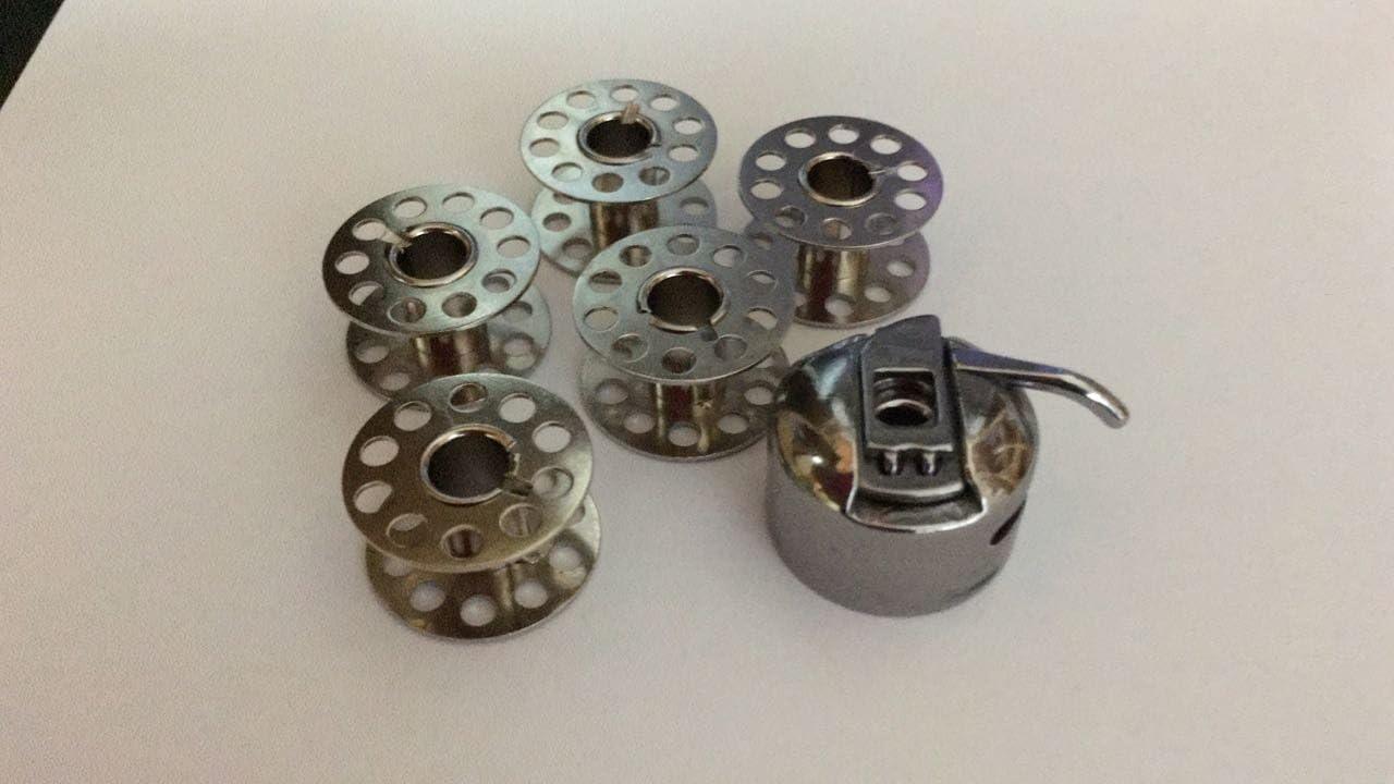 Nähmaschinenzubehör24 Bobina Caja/Carcasa para bobinas + 5 bobinas ...