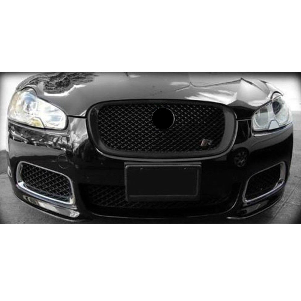 Gloss Black Upper Grill Front Grille Mesh for XF XFR 2012 2013 2014