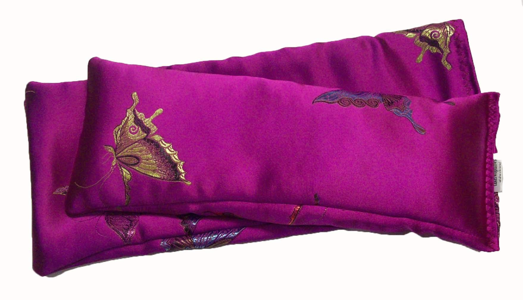 Flax Seed Eye Pillow Scented with Lavender Buds. (10 x 4 x 0.8 inches). by TAKETWOPILLOWS AND CALL ME IN THE MORNING!