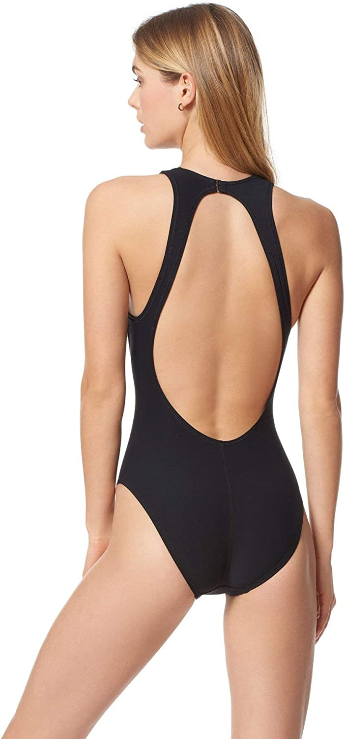 Everything But Water EBW Womens Collection High Neck Keyhole One Piece