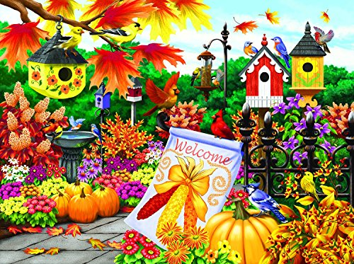 Welcome Autumn 300 pc Jigsaw Puzzle by - Pumpkin Cardinals