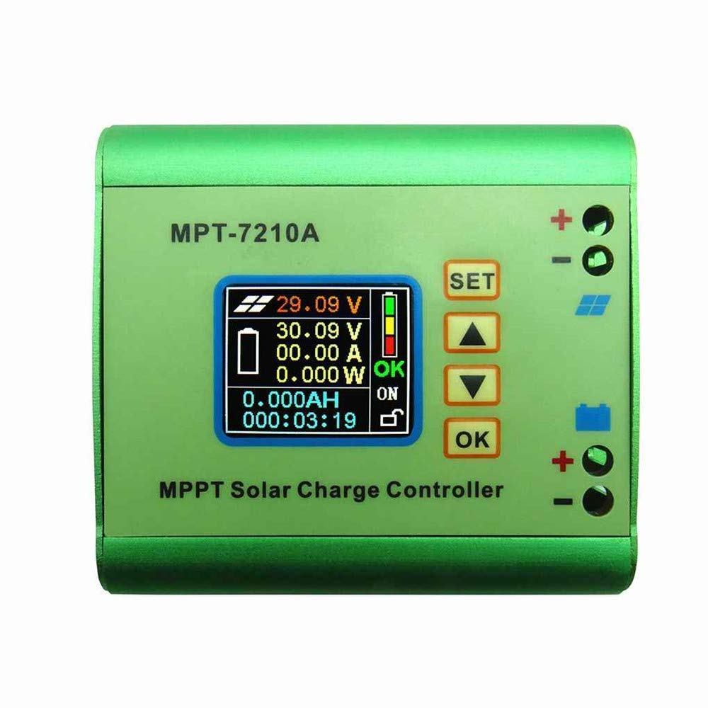 MPT-7210A MPPT Solar Panel Regulator Charge Controller with LCD Display for 24/36/48/60/72V Fuhuihe