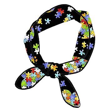 10cd7f1ac Amazon.com   Women Knotted Headband Multi Style Colorful Autism ...