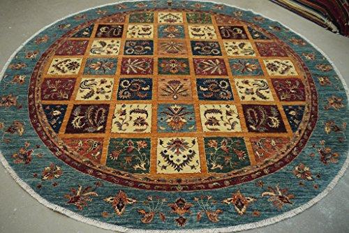 Babak's Oriental Carpets Chobi Ziegler Handmade Afghan Circular Circle Round Area Rug 9'1