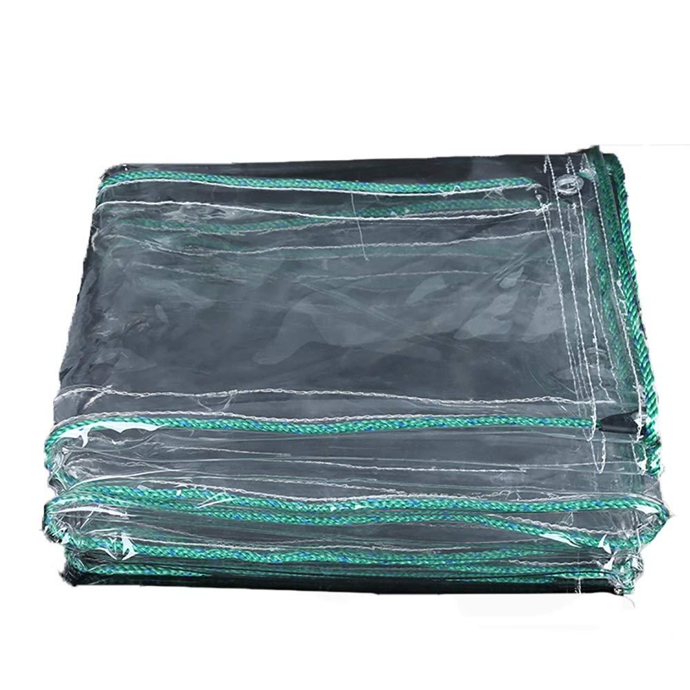 WWXX- タパリン、0.7mm厚透明防水シート、日焼け止めPVCプラスチック布、透明カーペット透明カーテン(500g /㎡) (サイズ さいず : 1.8x5m) 1.8x5m  B07JKJZ9QL