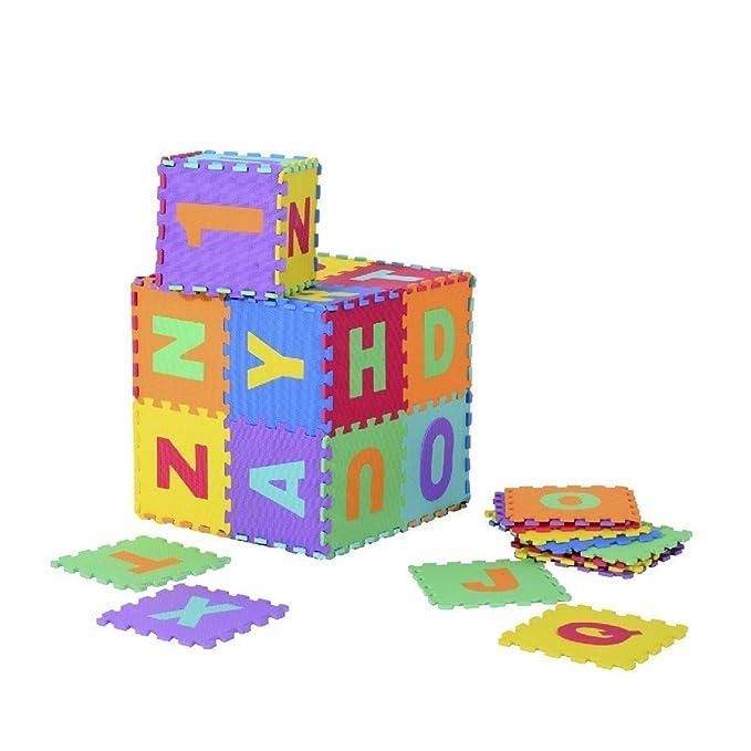 Alfombra Puzle Niños 20 piezas letras y números alfombra juegos ...