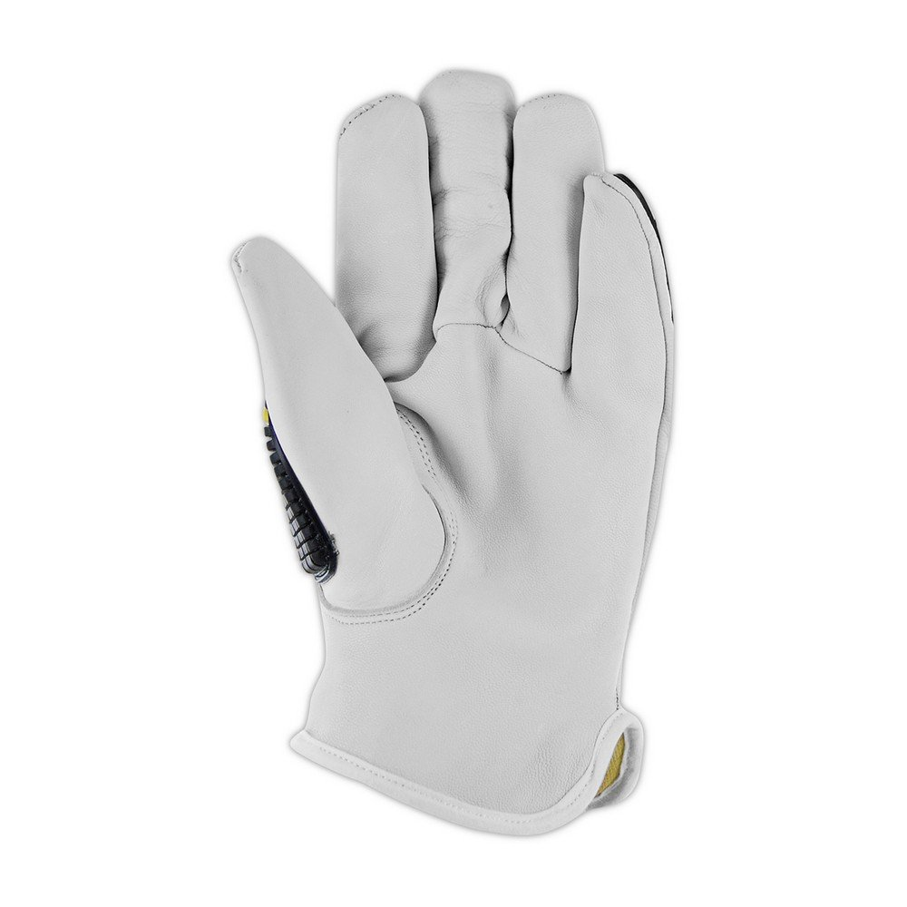 Magid Safety T-REX TRX840L Impact Glove | Kevlar-Lined Premium Grain Goatskin Leather Driver Style Impact Glove - Cut Level 4, Punction Level 5, Abrasion Level 4, Large (1 Pair) by Magid Glove & Safety