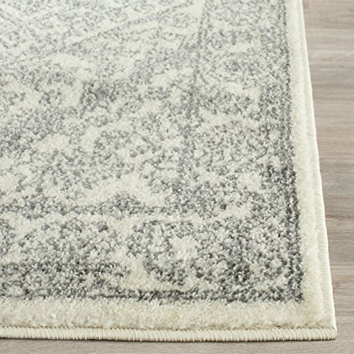 Safavieh Adirondack Collection ADR108B Ivory and Silver Oriental Vintage Medallion Area Rug (3' x 5')