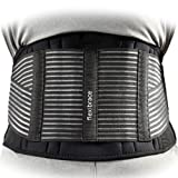 Back Support Brace Belt Lumbar Waist Double Adjust By Flexibrace ® (MEDIUM)