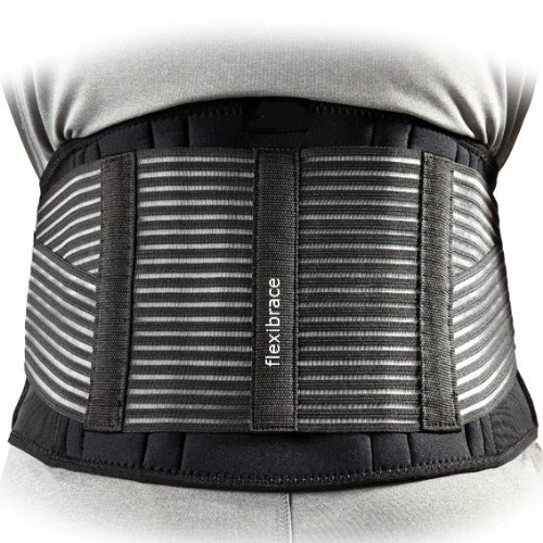 Flexibrace Back Support Brace Belt Lumbar Waist Double Adjust, Large by Flexibrace