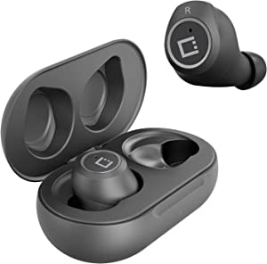 Wireless V5 Bluetooth Earbuds for Lenovo ThinkPad Tablet 2 with Charging case for in Ear Headphones. (V5.0 Black)