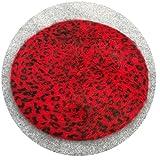 Women Angora Rabbit Fur Wool Leopard Beret Hats Acrylic Painter Lady Casual Wool Winter Warm Caps,10 red