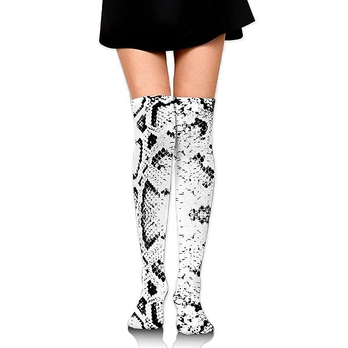 b81c26ff4 Zaqxsw Snake Skin Texture Women Vintage Thigh High Socks Cotton Socks For  Womens