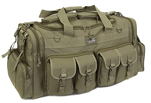 "Mens Large 30"" Inch Tan Duffel Duffle Military Molle Tactical Cargo Gear Shoulder Bag"