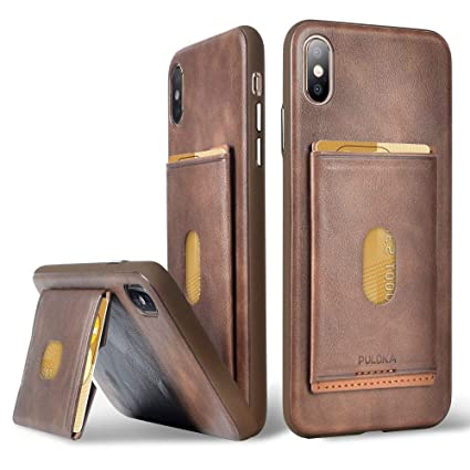 Amazon.com: PULOKA Funda para iPhone XS Max y tarjetero ...