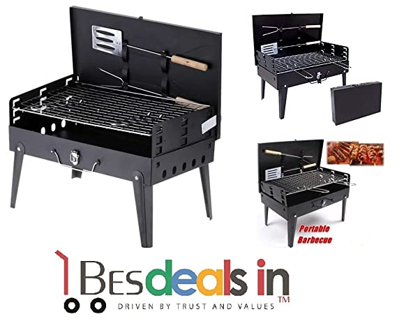 Style Eva Folding Picnic Camping Charcoal BBQ Grill Adjustable Height Portable Garden Barbecue Grill Broiler Outdoor Cooking Tool