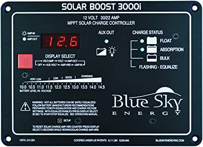 Blue Sky Energy SB3000i Solar Boost 30A MPPT Charge Controller with Display, Fully programmable for Lead-Acid or Lithium Batteries