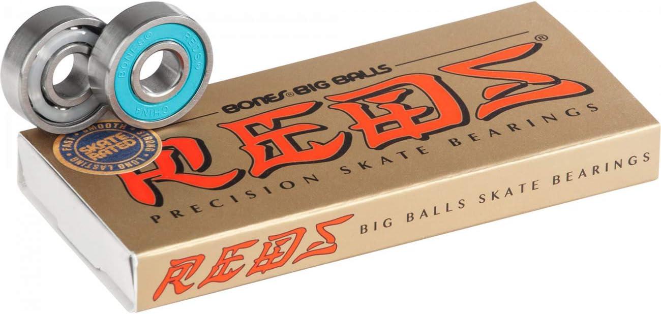 BONES Big Balls Reds Skateboard Bearings 8 Pack
