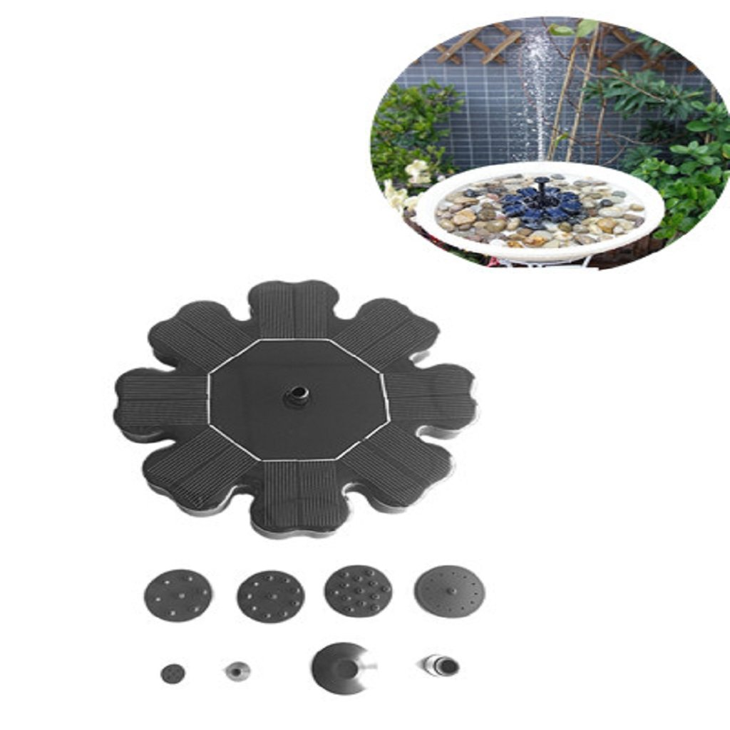 Onpiece Solar Bird Bath Fountains Pump, 1.4W Power Outdoor Water Floating Pond Fountain Pump by Onpiece