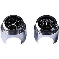 Reloj de manillar de la motocicleta y termómetro