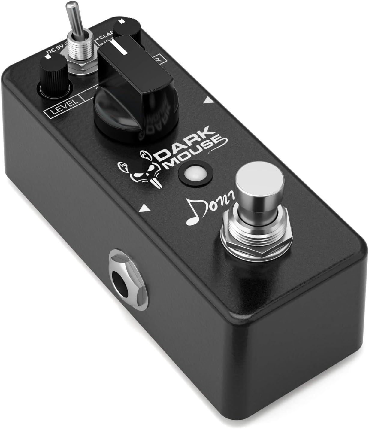 Donner. Pedal de Efecto de Distorsión para Guitarra Dark Mouse True bypass
