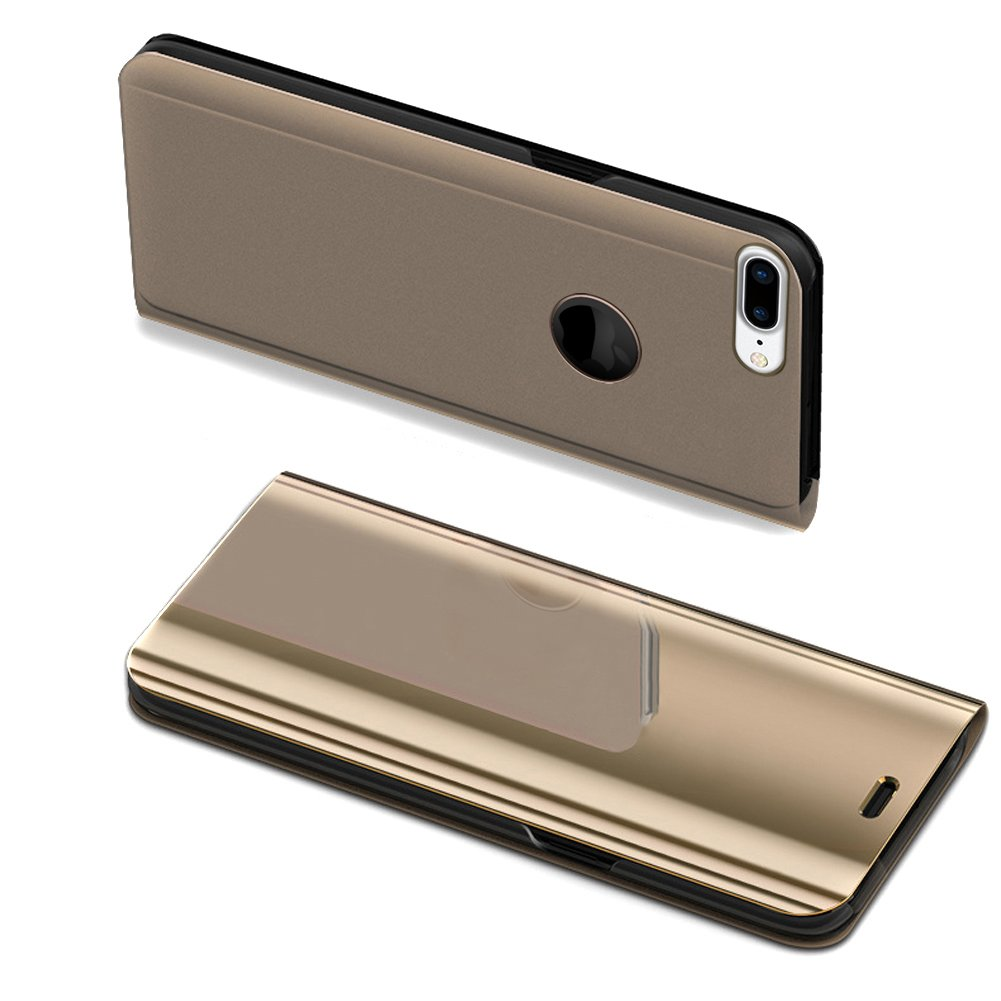 """iPhone 7 plus 5.5"""" Phone Case, iPhone 8 plus Leather Cover, iPhone 7 plus Mirror Case, Ekakashop Luxury Plating Mirror Function Flip Leather Stand Case, Soft Silicone Shockproof Protective Case for iPhone 7 plus/iPhone 8 plus 5.5 inches with 1x Ekakashop"""