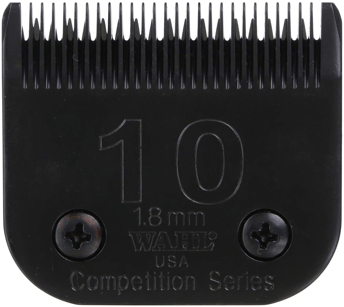 Pet Grooming Clipper Blades : Wahl Professional Animal #10 Medium Ultimate Competition Series Detachable Blade with 1/16-Inch Cut Length (#2358-500), Black