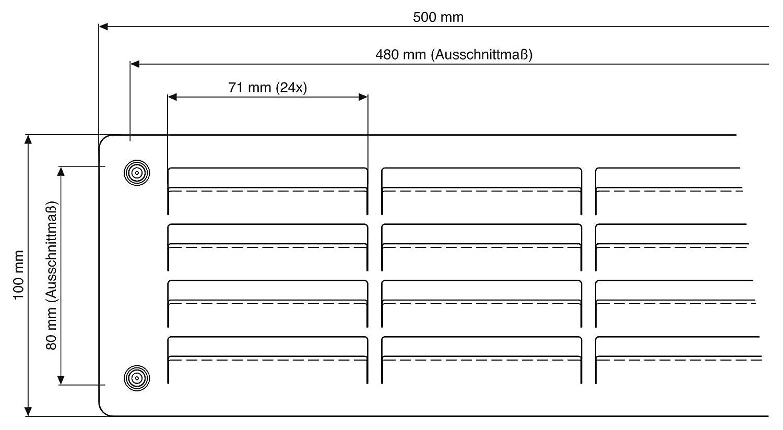 Format 4030182021292 U2013 Tñrlñftung 500 X 100 Mm Edelstahl: Amazon.de:  Baumarkt
