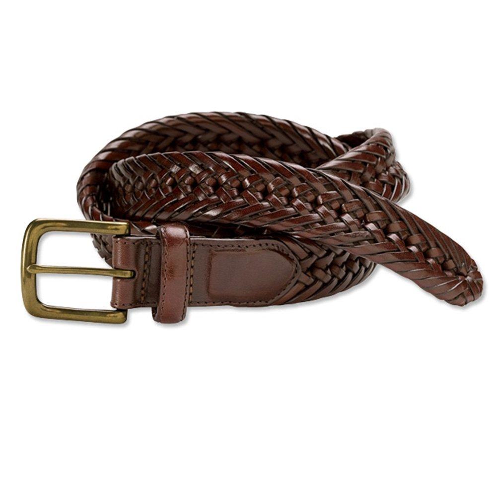 Orvis Braided Latigo Leather Belt, Brown, 34
