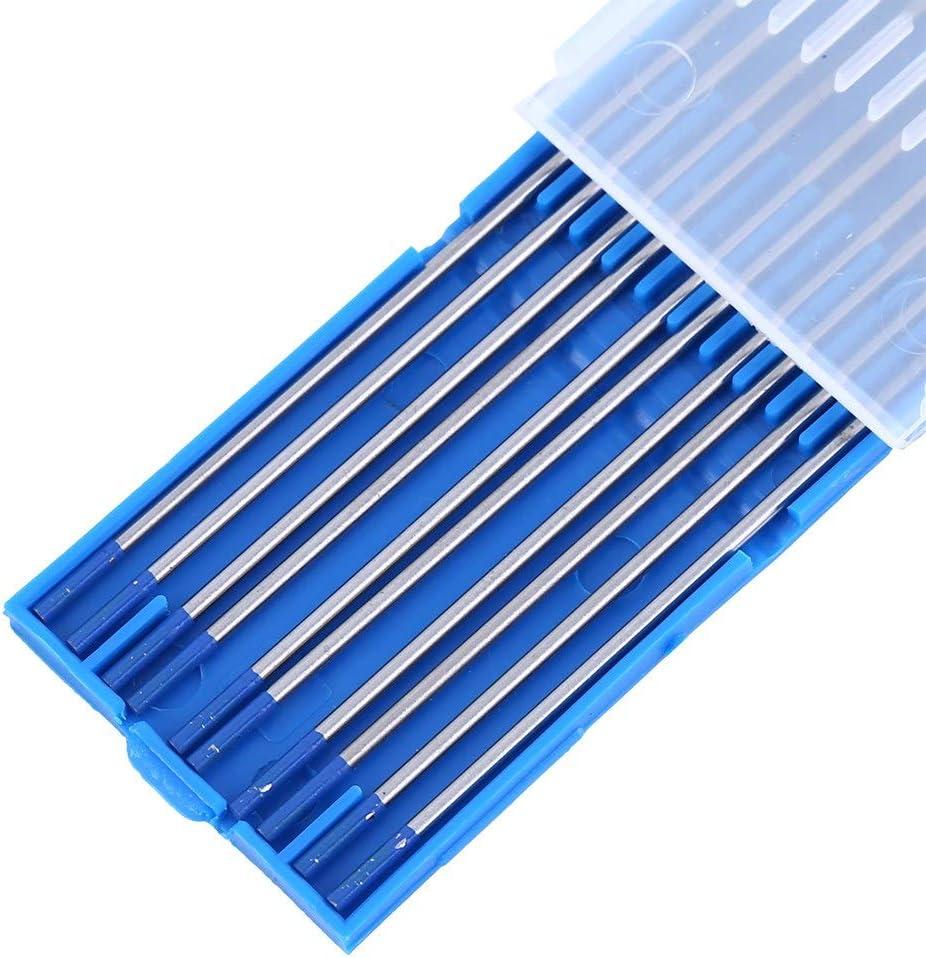 1.0 * 150mm Bleu 10Pcs WL20 Tungst/ène /Électrodes de Soudage TIG Lanthane Pointe R/égl/é 1.0//1.6//2.4mm