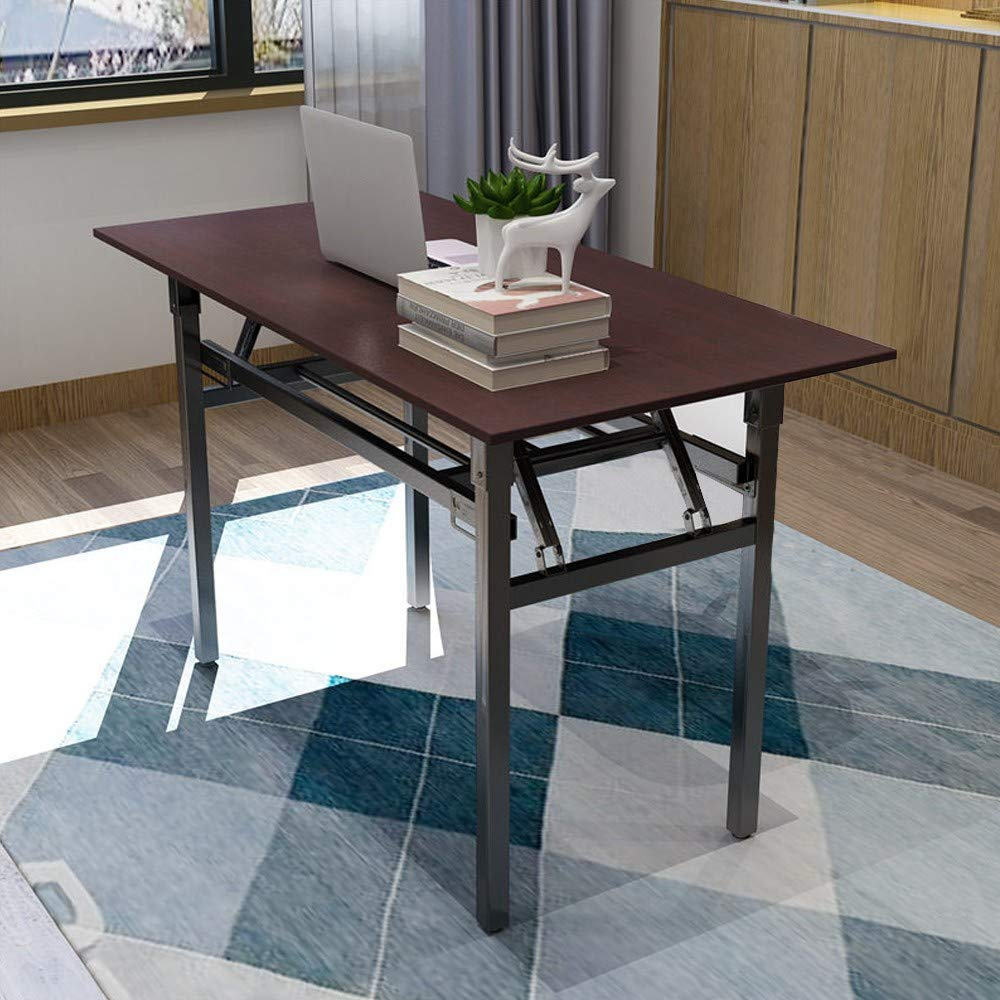 Folding Computer Desk Modern Simple Writing Table for Home Office Study 47'' Long