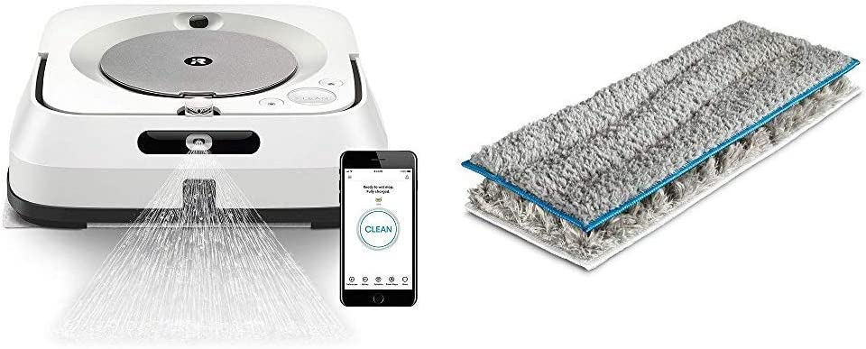 iRobot Braava Jet M6 (6110) Ultimate Robot Mop and m Series Washable Pads Multi-Pack, (1 Wet & 1 Dry Pad)