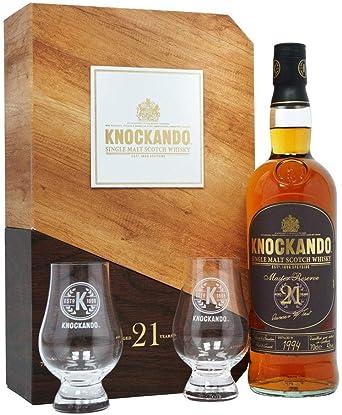 Knockando Master Reserve 21 Años - Single Malt Scotch Whisky - 1994 - Estuche Regalo con 2 vasos - 700ml: Amazon.es: Alimentación y bebidas