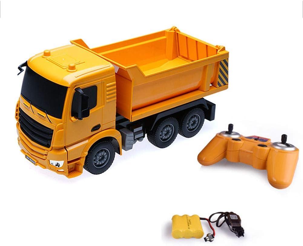 EXUVIATE RC Camión De Construcción Modelo Radiocontrol En Escala Camión Volquete De Obras Monster Truck Coche RC Stunt Car