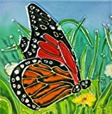 Continental Art Center SD-046 4 by 4-Inch Butterfly Set Ceramic Art Tile