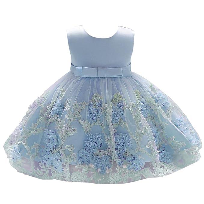 Amazon.com: ibtom castillo vestido de bebé niña flor para ...