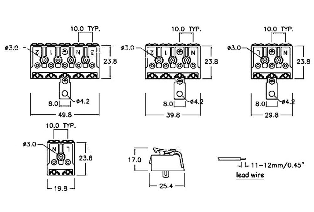 10 piezas Bloque de Terminales Certificación CE, Conector ...