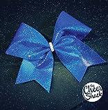 Blue Glitter Cheer Bow, Cheer Bow