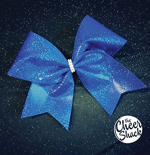 Blue Glitter Cheer Bow, Cheer Bow