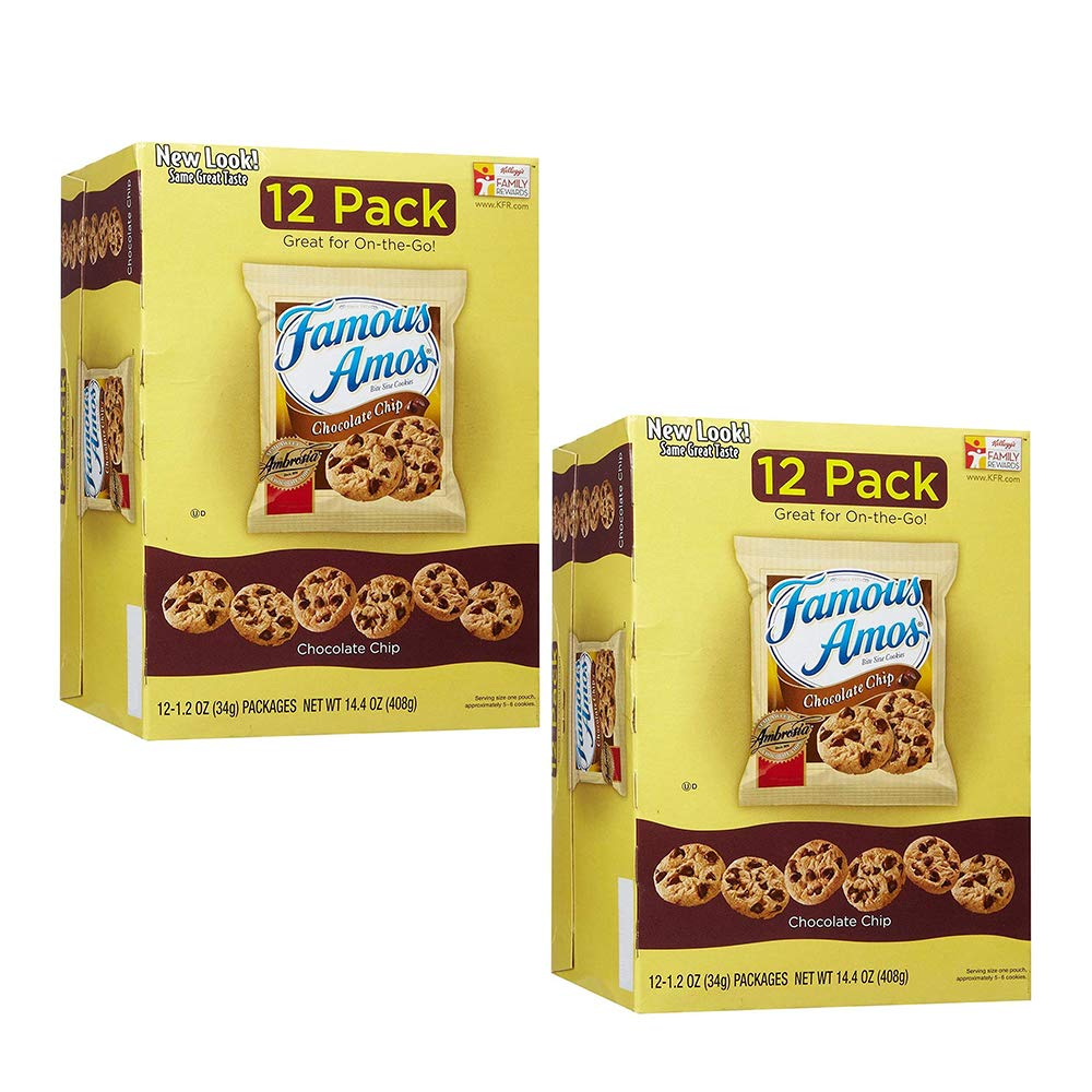 Famous Amos Chocolate Chip Cookies - 12 PKS (Pack of 2) by Famous Amos