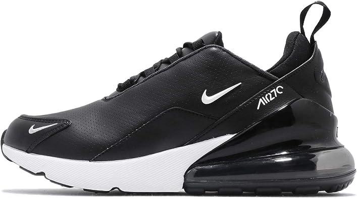 vecino porcelana Puntuación  Amazon.com | Nike Air Max 270 Premium Leather Men's Running Shoes BQ6171  001 (8 D(M) US), Black/White/Anthracite | Fashion Sneakers