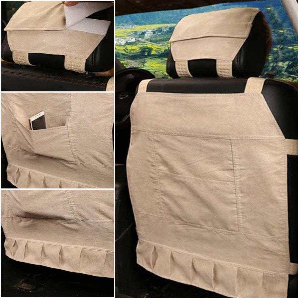 Beige, One Piece Australian Genuine Sheepskin Seat Covers for Cars Truck SUV Van Front Seats Universal Fit