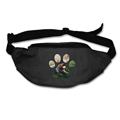 Unisex Pockets Dog Paw Fanny Pack Waist / Bum Bag Adjustable Belt Bags Running Cycling Fishing Sport Waist Bags Black