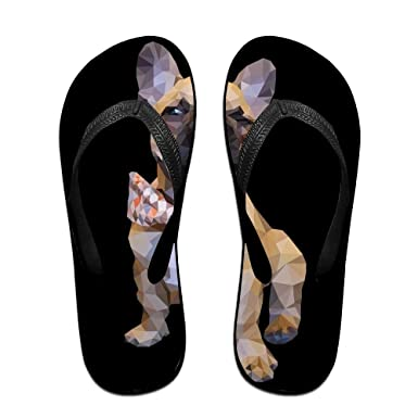 6879d3b5f4a7b Image Unavailable. Image not available for. Color  Creative Abstract Pug Unisex  Fashion Beach Flip Flops ...
