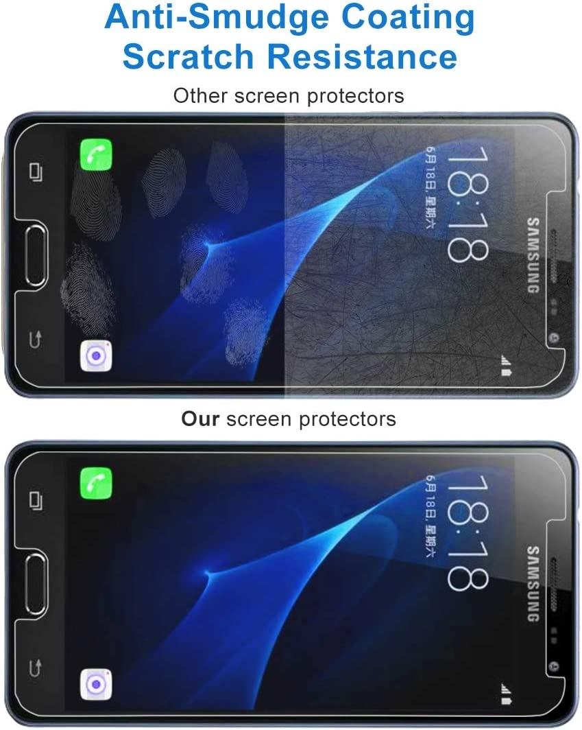 JIANGNIUS 100 PCS for Galaxy J3 EU Version 0.26mm 9H Surface Hardness 2.5D Explosion-Proof Non-Full Screen Tempered Glass Screen Film 2017