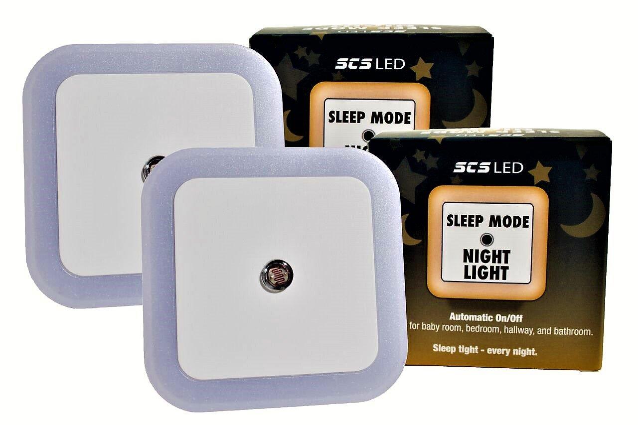 Harth Sleep Mode Night Light. (2-Pack) No Blue Light. Perfect for Nursery, Bedroom, Hallway, Bathroom. Auto Dark/Light Sensor. Amber LED, No Blue Light -Promotes Natural Melatonin Production