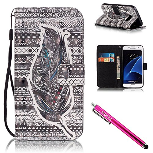 Galaxy-S7-Case-Firefish-Card-Slots-Kickstand-Flip-Folio-Wallet-Case-Synthetic-Leather-Shell-Scratch-Resistant-Protective-Cover-for-Samsung-Galaxy-S7