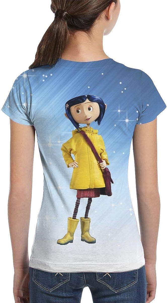 Girl Corali/_ne Girls T Shirt Short Sleeve Summer Tee Graphic Fashion Tops