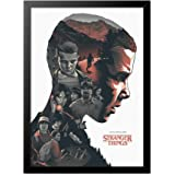 Quadro Poster Stranger Things Eleven Personagens 33x23cm